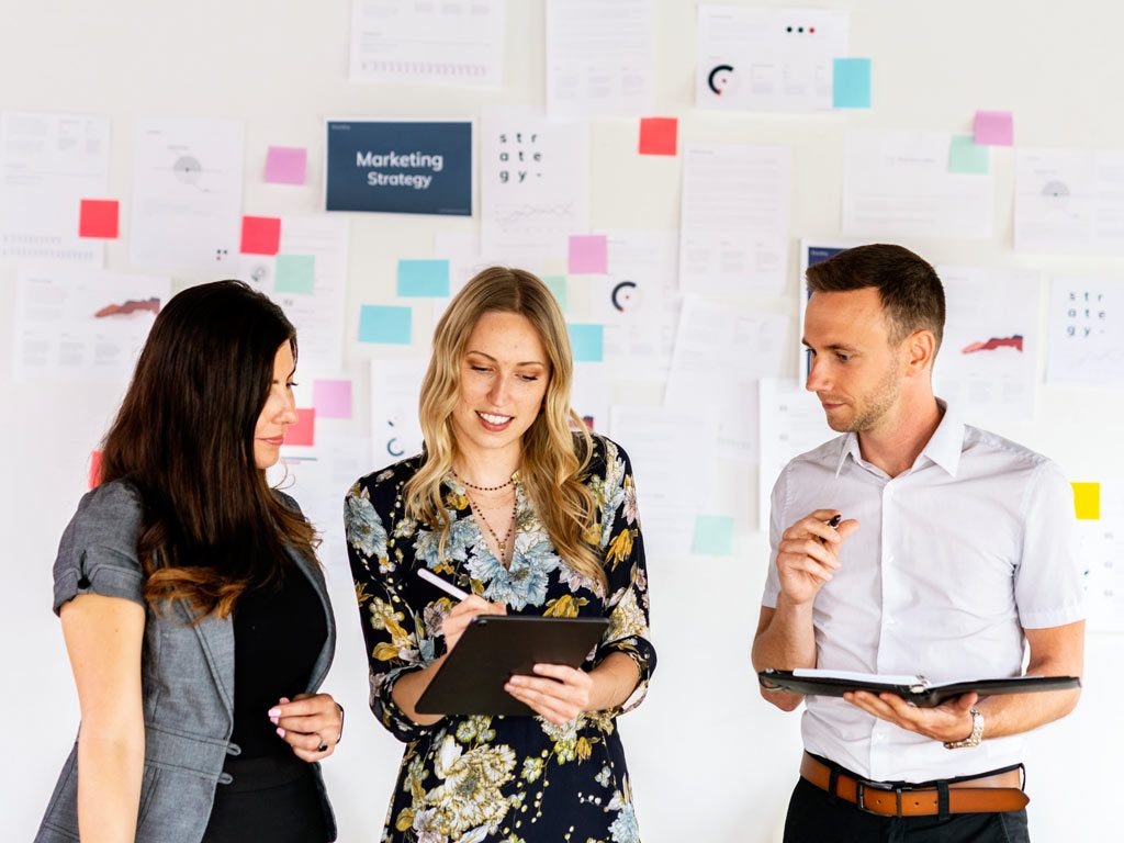 Business people planning a marketing strategy